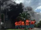 Polícia registra 21 ônibus incendiados nas últimas 24 horas em Fortaleza