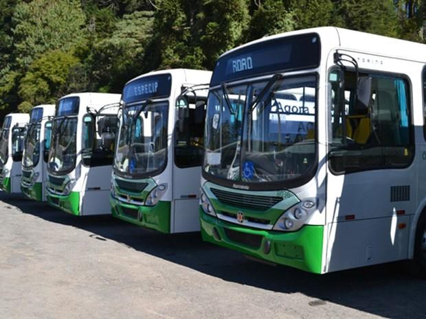 Frota do transporte coletivo de Campos do Jordão é de 24 veículos, de acordo com a empresa concessionária. (Foto: Divulgação/Prefeitura de Campos do Jordão)