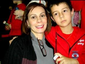 Antes de morrer, mãe de Bernardo registrou ocorrência por ameaça (Foto: Reprodução/RBS TV)