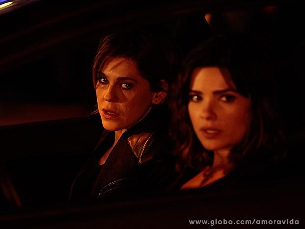 Bárbara Paz e Vanessa Giácomo também estiveram na gravação (Foto: Amor à Vida/TV Globo)