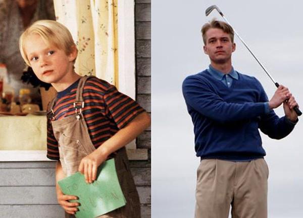 Mason Gamble em 'Denis, o Pimentinha' (1993) e no filme 'Golf in the Kingdom' (2010) (Foto: Divulgação)