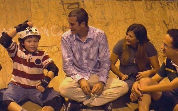 Encontro emcocionante de Cauet e Bob (Foto: Caldeirão do Huck/TV Globo)