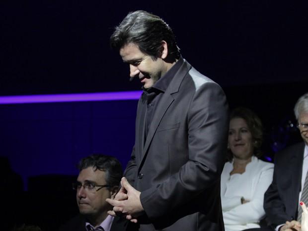 Jonas some no meio da plateia  (Foto: Pedro Curi / TV Globo)