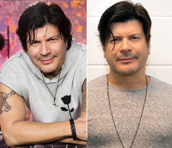 Antes e depois do cabelo de Paulo Ricardo (Foto: Ellen Soares e Felipe Monteiro/Gshow)