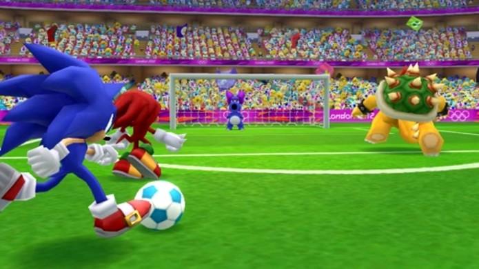 De 4 em 4 anos, os mascotes rivais se encontram nas Olimpíadas, como em Mario & Sonic at the London 2012 Olympic Games (Foto: Reprodução/Sega Addicts)