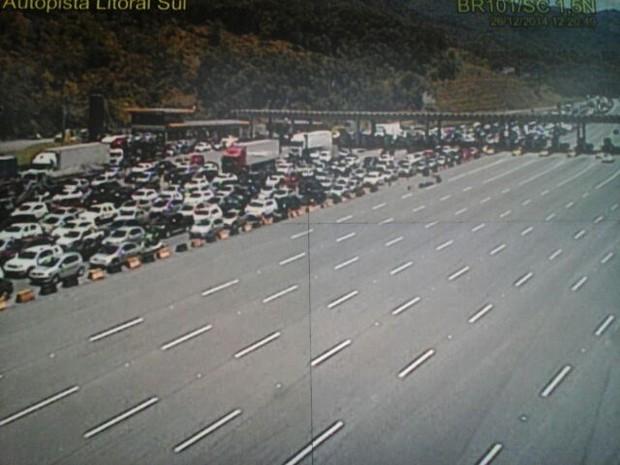 congestionamento SC (Foto: PRF/Divulgação)