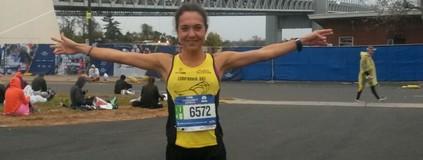 Maratona de N Y: Inscrita quinze dias antes, Ana é a primeira brasileira (Arquivo Pessoal)