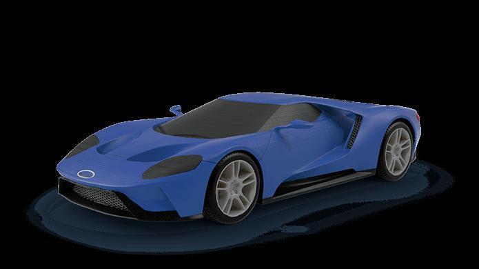 Modelos podem ser impressos em 3D em várias escalas (Foto: Reprodução/Ford)