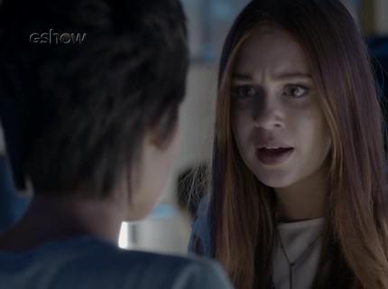 Teaser 6/2 - Carolina pira ao saber que Arthur e Eliza foram juntos à boate