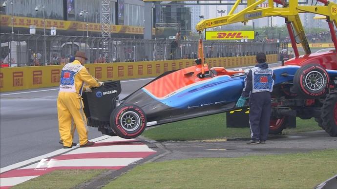 Pascal Werhlein roda na poça e deixa o Q1 mais cedo (Foto: Reprodução)