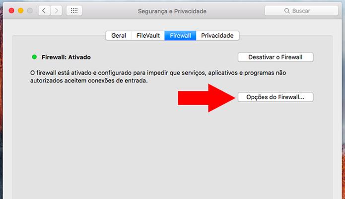 Configure o firewall (Foto: Reprodução/Paulo Alves) (Foto: Configure o firewall (Foto: Reprodução/Paulo Alves))