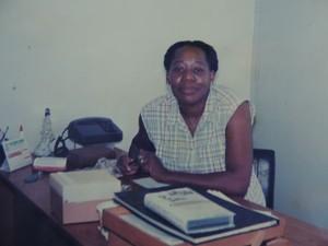 Gracinda no seu primeiro dia como diretora em uma escola municipal de Bauru (Foto: Arquivo pessoal/Gracinda Ferreira)