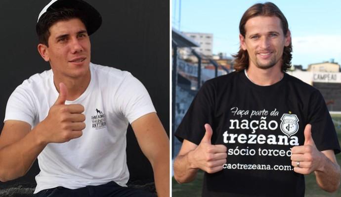 Giancarlo (atacante) e Júnior Gaúcho (volante), do Treze (Foto: Divulgação / Treze)