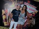 Ex-BBB Rafael e Talita vão juntos a evento no Rio