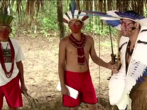 Índios pataxós reivindicam área em Paraty, na Costa Verde do Rio (Foto: Reprodução/TV Rio Sul)