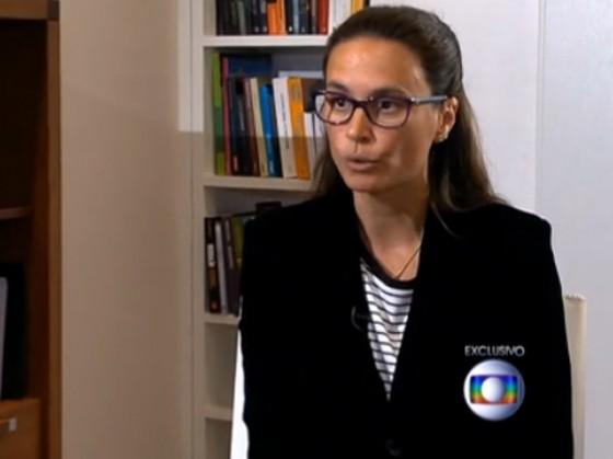 A advogada Beatriz Catta Preta em entrevista ao Jornal Nacional (Foto: Reprodução)