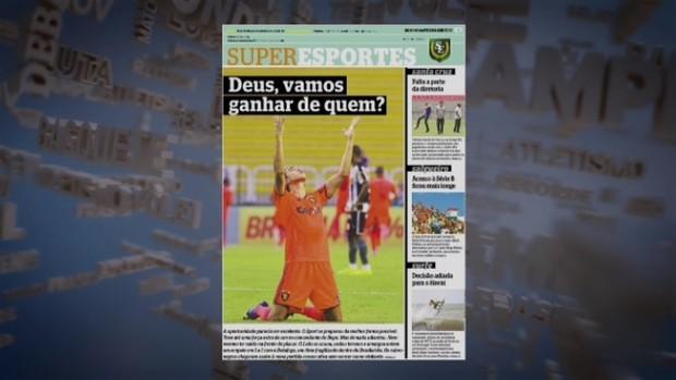 Jornal ironiza Botafogo após empate em 1 a 1 com o Sport (Foto: Reprodução SporTV)