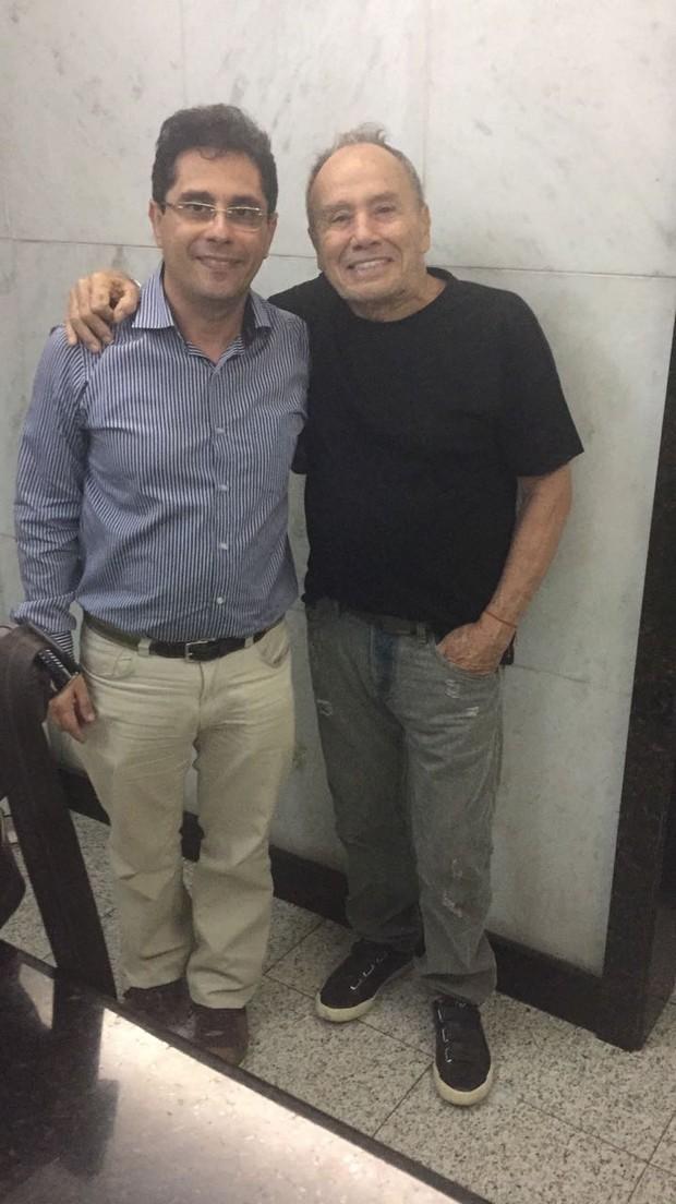 Roberto Saade e Stênio Garcia na Clínica São Vicente (Foto: Arquivo pessoal)