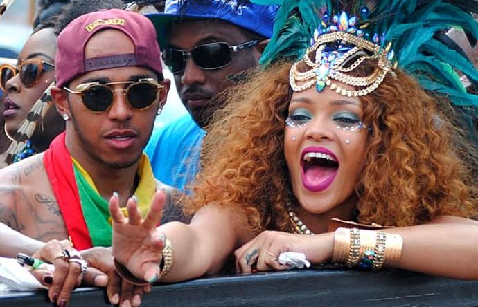 Lewis Hamilton Rihanna (Foto: Reprodução/Instagram)