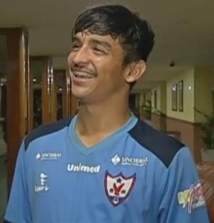 Tiago Mandi meia do Águia (Foto: Reprodução/TV Liberal)