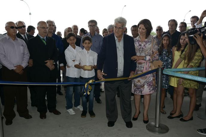 Presidente da CBV Walter Pitombo Laranjeiras durante inauguração da nova sede (Foto: Alexandre Arruda / CBV)