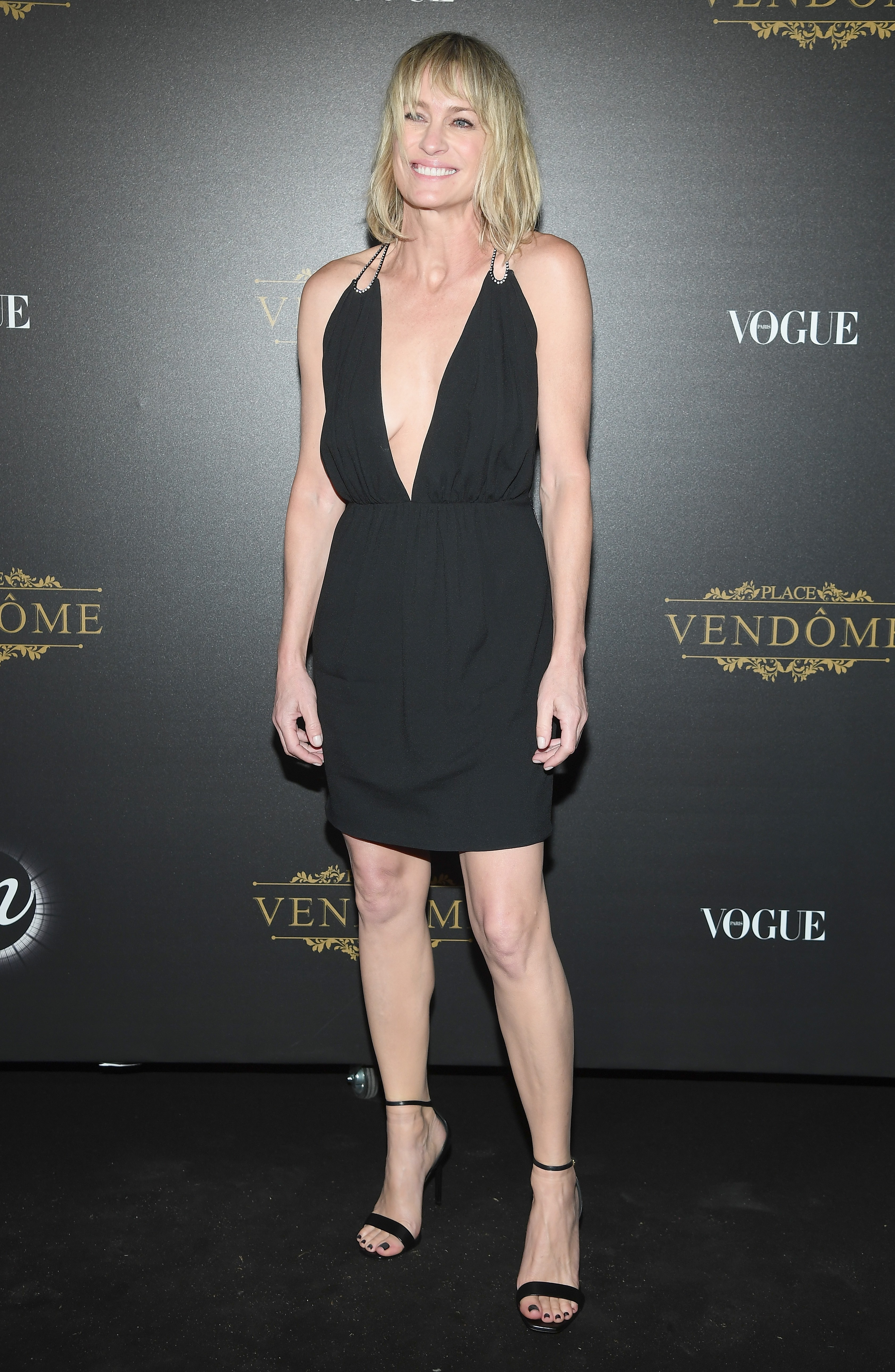 Robin Wright na festa Vogue Paris x Irving Penn (Foto: Pascal Le Segretain/Getty Images)