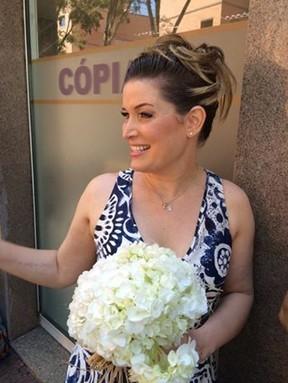 Luise Wischermann oficializou a união com o marido, Cesario Mello Franco (Foto: Reprodução/Facebook)