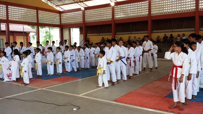 Campeonato Estadual de Karatê reúne mais de 100 atletas em Macapá (Foto: Wellington Costa/GE-AP)