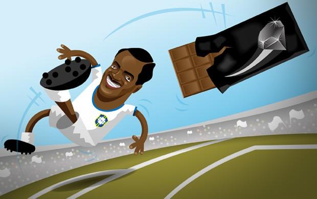 ilustração Diamante Negro (Foto: arte esporte / cláudio roberto)