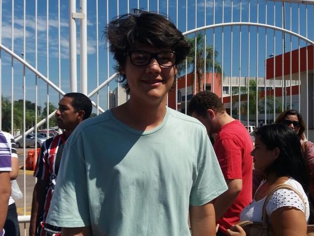 Rio Branco (AC) - Igor Lucas Lebre, de 16 anos, faz o Enem pela terceira vez no Acre (Foto: Iryá Rodrigues/G1)