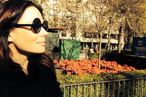 Graziela Schmitt em Sevilha (Foto: Arquivo pessoal)