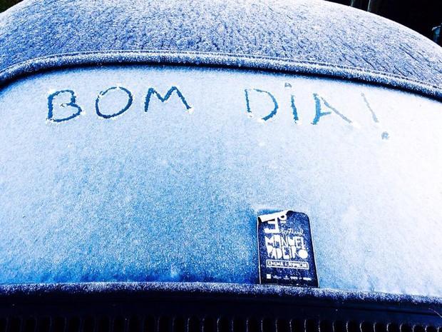 RS registra temperatura mínima de -0,2°C e sensação térmica de -14°C