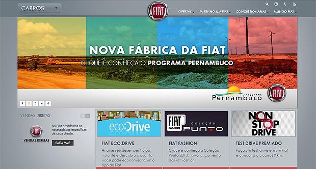 Site Fiat (Foto: Reprodução)