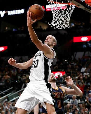 San Antonio Spurs x Cleveland Cavaliers - Manu Ginobili (Foto: EFE)