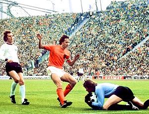 Copa do Mundo 1974 Holanda x Alemanha Beckenbauer Cruyff Maier (Foto: AFP)