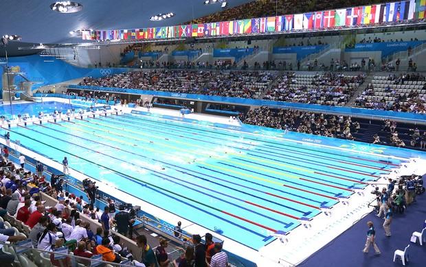 lugares vazios na prova de natação no Centro Aquático em Londres (Foto: Getty Images)