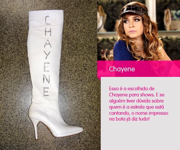 Chayene bota branca (Foto: Cheias de Charme / TV Globo)