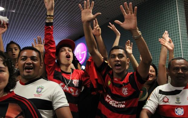 Torcida Flamengo em Manaus (Foto: Isabella Pina)