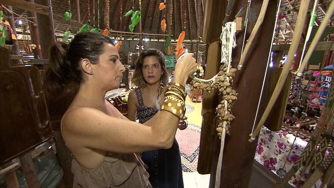 Tornozeleiras com sementes têm outras utilidades na decoração e na moda (Foto: TV Bahia)