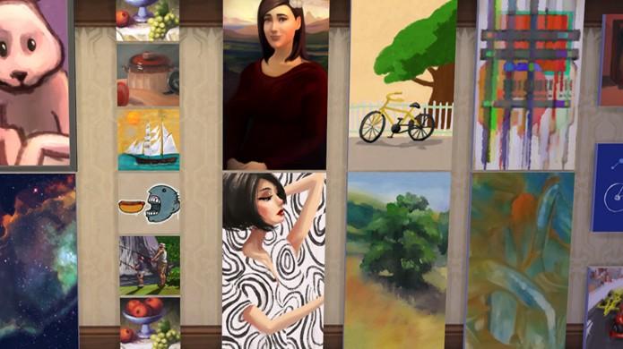 Não venda todos os seus quadros, pois precisará de alguns para exibição (Foto: carls-sims-4-guide.com)