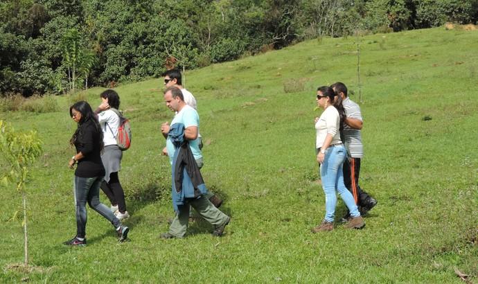 Visita técnica foi feita em local conhecido como Bosque do Visconde (Foto: Agenor Maia de Siqueira/PMR)