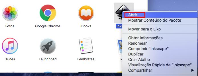 Executando o Inkscape no OS X (Foto: Reprodução/Edivaldo Brito)