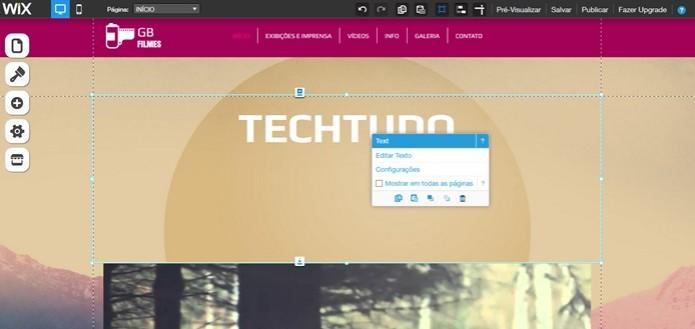 Alterar título do seu site no Wix (Foto: Reprodução/Carolina Ribeiro)  (Foto: Alterar título do seu site no Wix (Foto: Reprodução/Carolina Ribeiro) )
