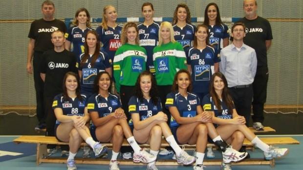 Hypo, time austríaco de handebol que é base da seleção brasileira (Foto: Reprodução/Facebook)