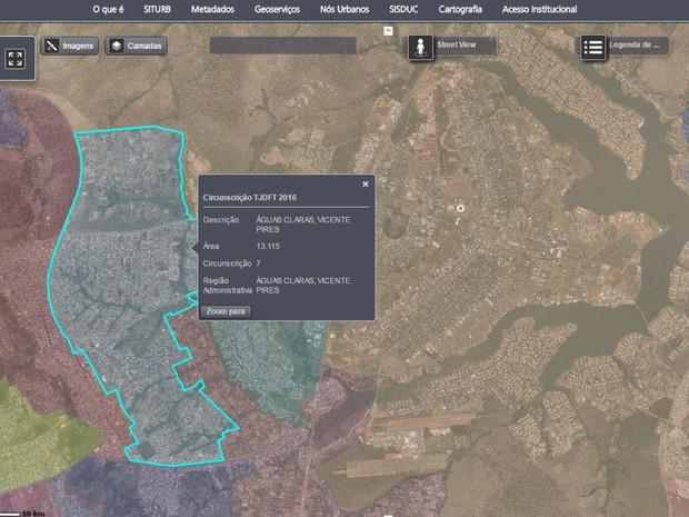 e6ac5bcca0e54 Informações do Tribunal de Justiça do Distrito Federal em mapa interativo  lançado pela Secretaria de Habitação