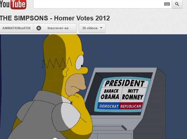 Homer decide em quem vai votar em especial sobre as eleições de 'Os Simpsons' (Foto: Reprodução)