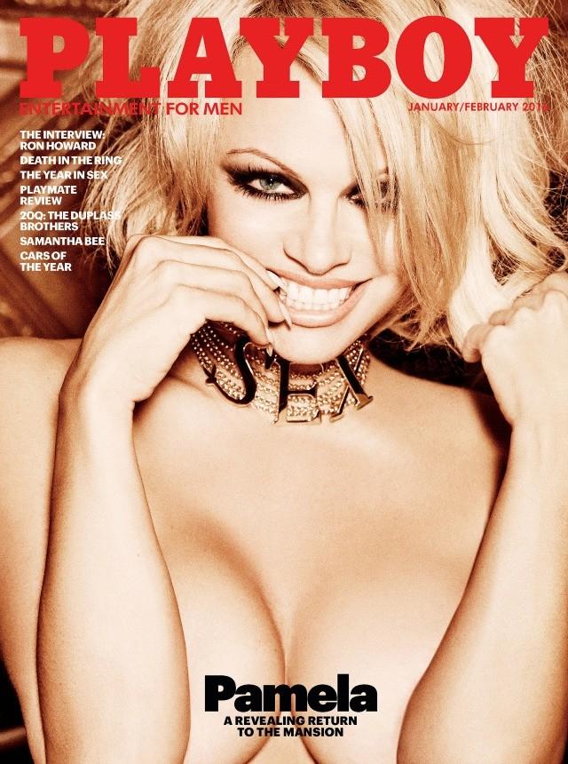 Pamela Anderson na capa da última 'Playboy' com ensaio de nudez nos EUA (Foto: Divulgação / Playboy)