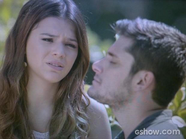 Luiza termina com André e ele fica arrasado (Foto: Em Família/ TV Globo)