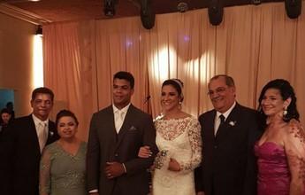 Judoca Luciano Corrêa e nadadora Joanna Maranhão se casam no Recife