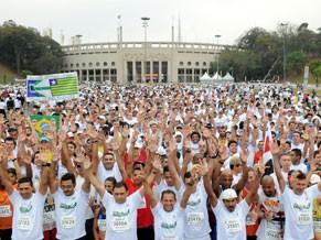 Largada da primeira edição da Corrida e Caminhada da Esperança, em 2011 (Foto: Divulgação)